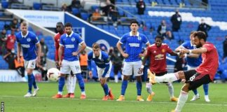 Highlight : Brighton 2 – 3 Man United (Watch Here)